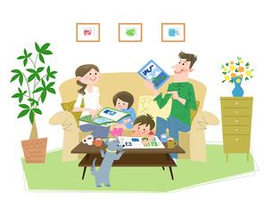 家族でワクワクのイラスト素材 [FYI02836259]