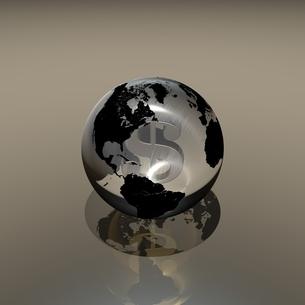 ガラスの地球に入るドルのイラスト素材 [FYI02836346]