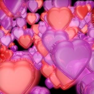 ピンクと赤のハートのイラスト素材 [FYI02836365]