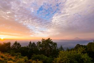 富士山と日の出の写真素材 [FYI02836539]