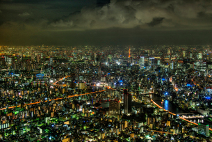 東京都心夜景の写真素材 [FYI02836609]
