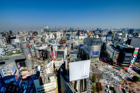 渋谷の交差点の写真素材 [FYI02836711]