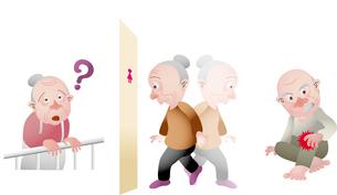 高齢者の医療 認知症 頻尿 骨粗鬆症のイラスト素材 [FYI02836761]