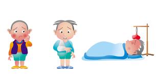 子供の医療 アトピー 怪我 発熱のイラスト素材 [FYI02836799]