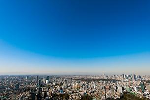 富士山と恵比寿 新宿方面の写真素材 [FYI02836929]