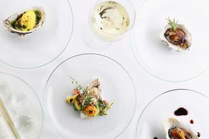 牡蠣料理集合の写真素材 [FYI02836971]