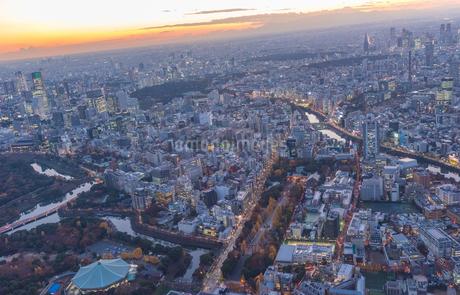 靖国神社周辺の空撮の写真素材 [FYI02836988]