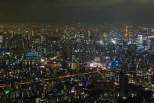 東京都心夜景の写真素材 [FYI02837040]