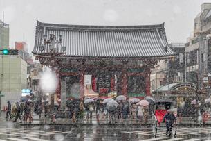 浅草に降った大雪の写真素材 [FYI02837125]