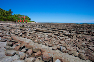 青島の鬼の洗濯岩の写真素材 [FYI02837153]