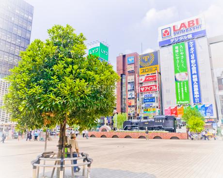 新橋駅前 SL広場の写真素材 [FYI02837211]