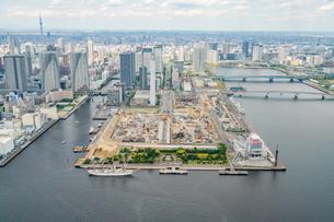 2020年東京オリンピック選手村工事の空撮の写真素材 [FYI02837352]