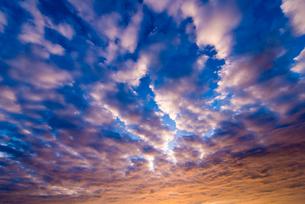夕焼け空と雲の写真素材 [FYI02837400]