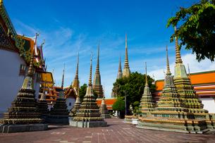 ワット・ポーの仏塔の写真素材 [FYI02837522]