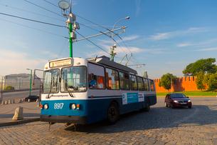 モスクワのトロリーバスの写真素材 [FYI02837614]