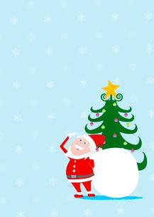 サンタクロースとクリスマスツリーのイラスト素材 [FYI02837787]