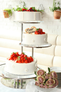 ウェディングケーキの写真素材 [FYI02837967]