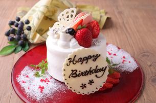 バースデーケーキの写真素材 [FYI02838128]
