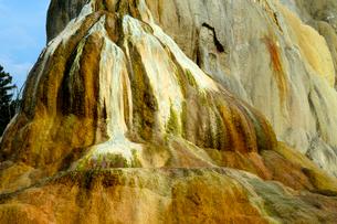 イエローストーン国立公園のマンモスカントリーのアッパーテラスのオレンジスプリングマウンドの写真素材 [FYI02838712]