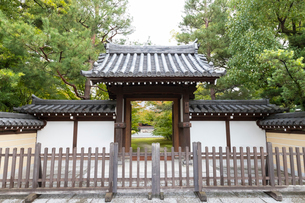 博多、承天禅寺の中門の写真素材 [FYI02838906]