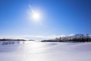 陸別町付近の雪原の写真素材 [FYI02839063]