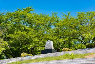天童公園将棋供養塔の写真素材 [FYI02839188]