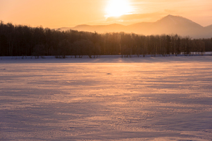 阿寒国立公園の雪景色の写真素材 [FYI02839417]