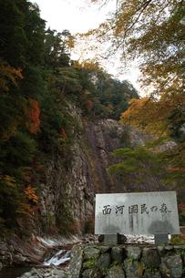 面合渓谷(紅葉)石鎚山の写真素材 [FYI02839658]