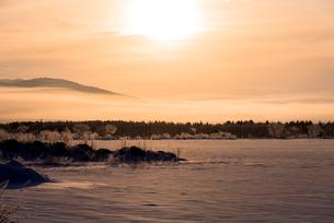 阿寒国立公園の雪景色の写真素材 [FYI02839702]
