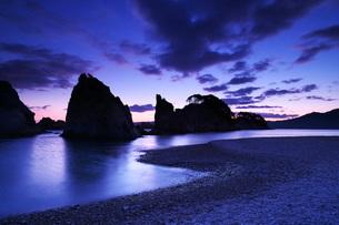 浄土ヶ浜の朝の写真素材 [FYI02839882]