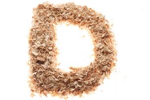 アルファベットのD(おがくず)の写真素材 [FYI02840205]