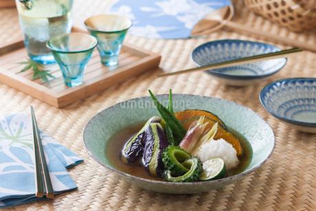 夏野菜の揚げ浸しの写真素材 [FYI02840446]