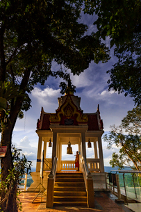 Wat Pha Tak Suea, Nong Khai, Thailandの写真素材 [FYI02842035]