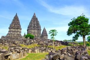 インドネシア ジャワ島 プランバナン寺院史跡公園の写真素材 [FYI02844489]