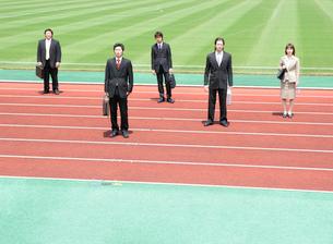 競技場とビジネスマンの写真素材 [FYI02844857]