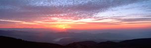 六合村の朝日の写真素材 [FYI02845672]
