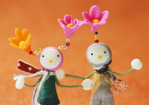 花の妖精のクラフトの写真素材 [FYI02846537]