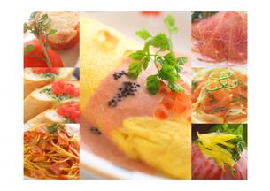 洋食の集合 コラージュの写真素材 [FYI02847539]