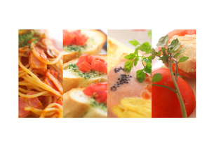 洋食の集合 コラージュの写真素材 [FYI02848287]