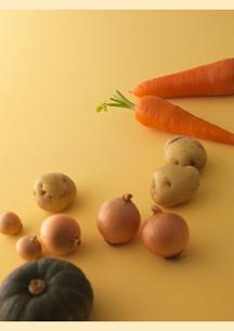 転がる野菜の写真素材 [FYI02848748]