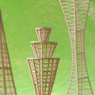 建物のオブジェ クラフトの写真素材 [FYI02849117]