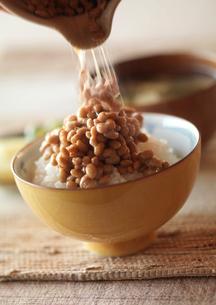 納豆ごはんのある朝食の写真素材 [FYI02849723]