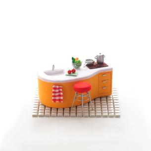 キッチンのミニチュアルーム クラフトの写真素材 [FYI02850679]