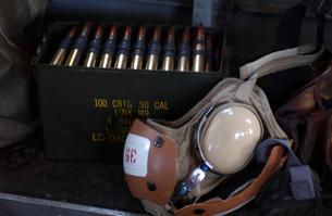 A box of live M2 .50 caliber machine gun ammunition.の写真素材 [FYI02851442]