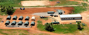 Aerial overview of the 554th Red Horse field training exerciの写真素材 [FYI02851584]