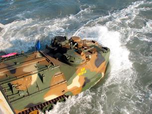 A South Korean amphibious assault vehicle.の写真素材 [FYI02851681]