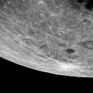 High altitude oblique view of the lunar surface.の写真素材 [FYI02851837]