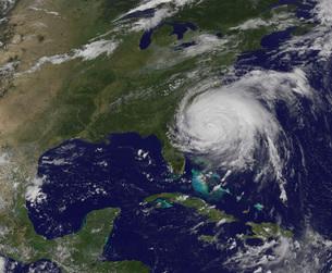 Satellite view of Hurricane Irene.の写真素材 [FYI02852796]