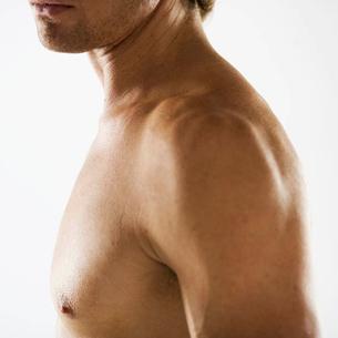 A male nude, shouldersの写真素材 [FYI02852843]