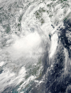 Tropical storm Conson approaching Vietnam.の写真素材 [FYI02853028]